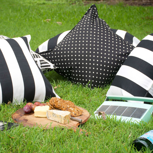Bungalow Living Black & White Totem Outdoor Cushion
