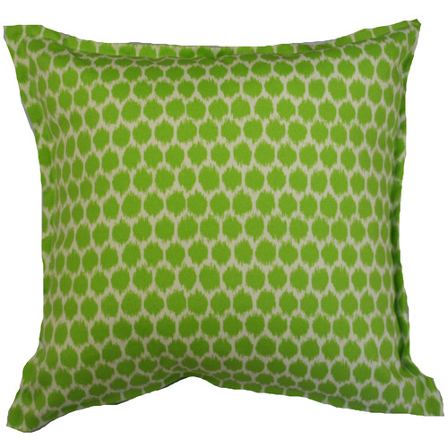 Bungalow Living Green Spot Ikat Outdoor Cushion
