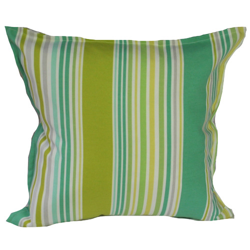 Bungalow Living Green Lawn Stripe Outdoor Cushion