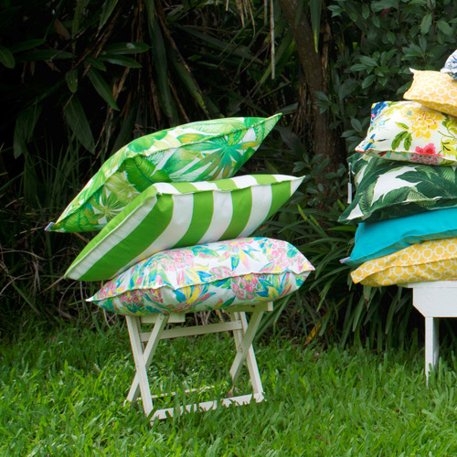 Bungalow Living Pineapple Palm Beach Outdoor Cushion
