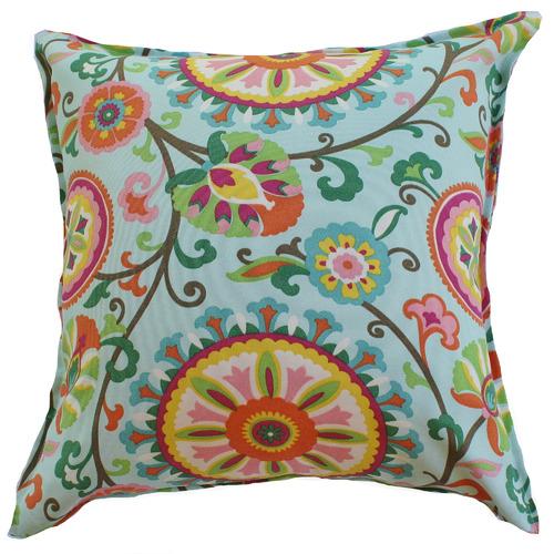 Multi-Coloured Floral Suzani Cushion
