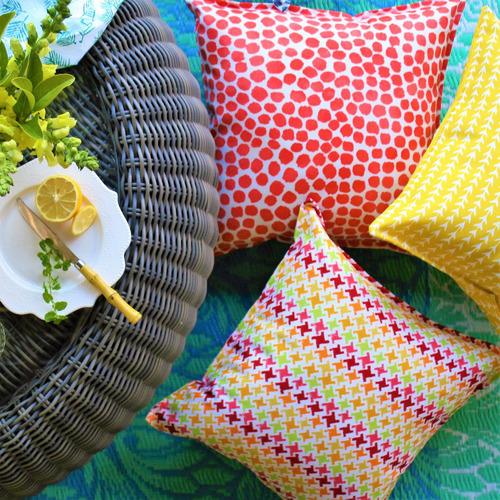 Terracotta Spot Cushion