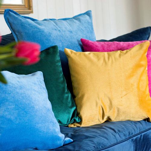 Bungalow Living Gold Velvet Cushion