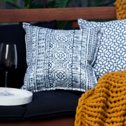 Bungalow Living Indigo Batik Outdoor Cushion