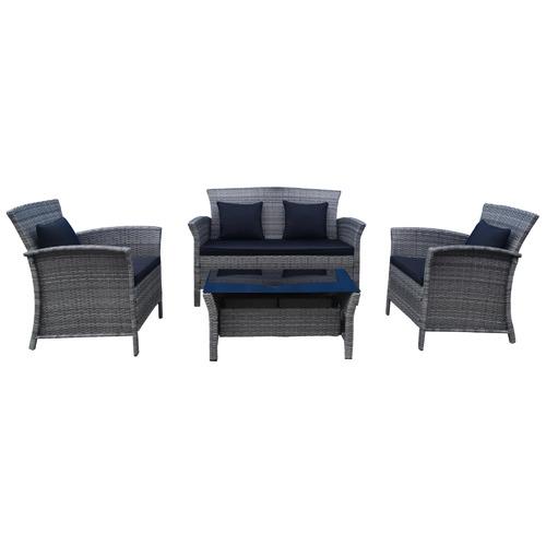 Maya Outdoor Furniture 4 Seater Saint Lucia Wicker Outdoor Lounge Set