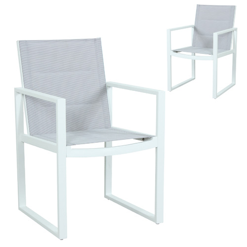 Maya Outdoor Furniture Riva Padded Outdoor Sling Dining Chairs