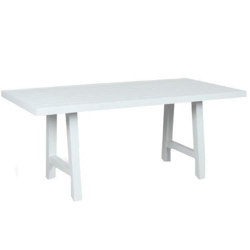 Maya Outdoor Furniture Fusion Metal Trestle Leg Outdoor  Dining Table