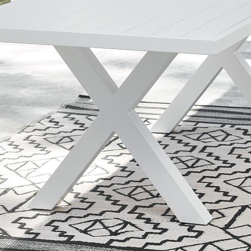 Maya Outdoor Furniture Fusion Metal X-Leg Outdoor Dining Table