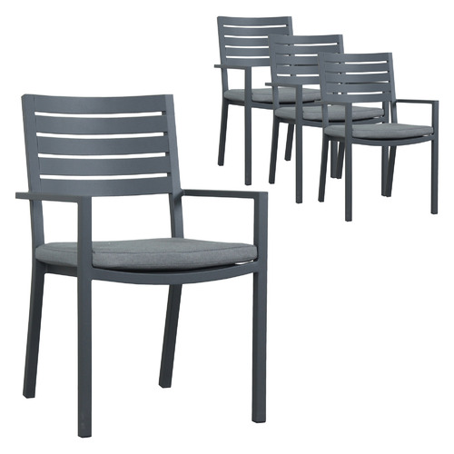 Maya Outdoor Furniture Anderson Aluminium Outdoor Dining Chairs