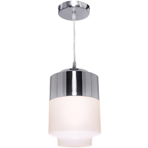 Cougar Lighting Chrome & White Charlie Pendant Light