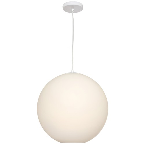 Cougar Lighting White Orpheus Pendant Light
