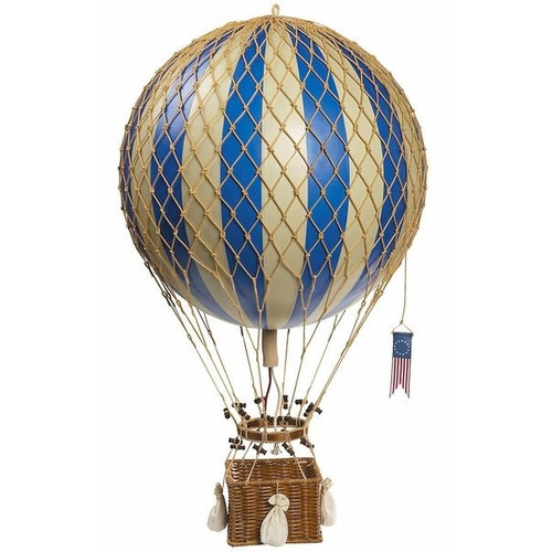 Global Treasures Royal Aero Balloon Ornament in Blue