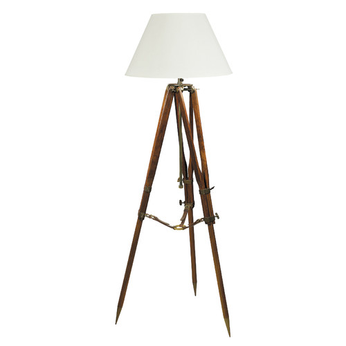 Global Treasures Campaign Tripod Floor Lamp