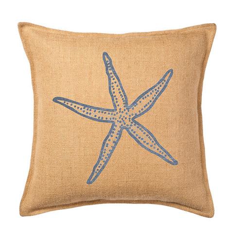 Global Treasures Eco-Accents Designs Starfish Burlap Pillow