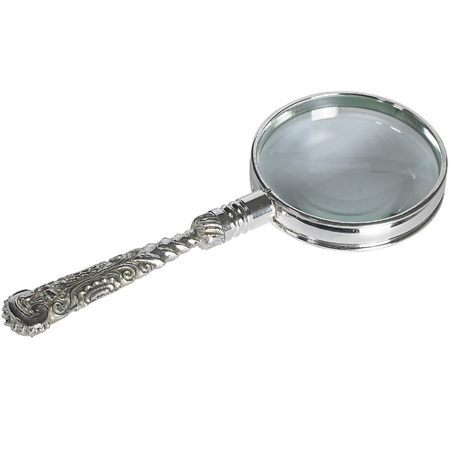 Global Treasures Rococo Magnifier in Silver
