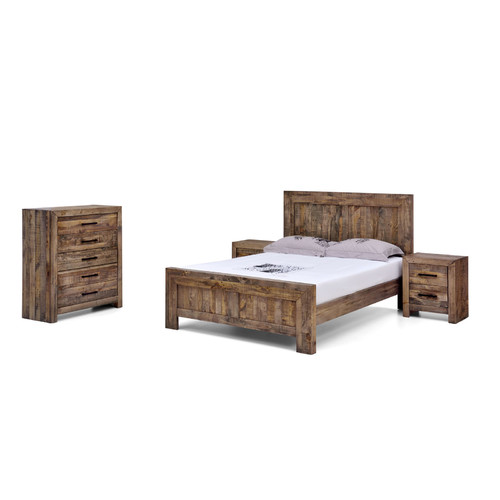 Evergreen Home Lucas Recycled Pine Wood Bed