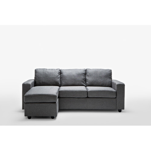 Bed by Designs Ella Grey Reversible L Shape Sofa