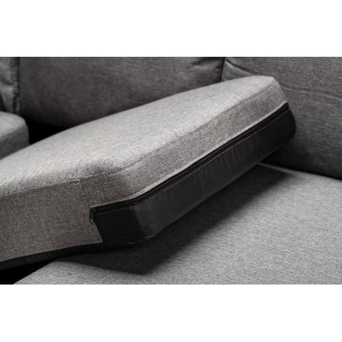 Evergreen Home Grey Aimee Reversible L Shape Sofa