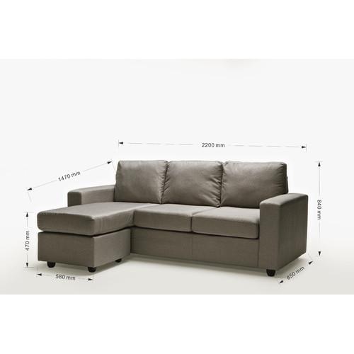 Ella Home Sofa ~ Ella rice grey reversible l shape sofa temple webster
