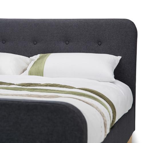 Evergreen Home Dark Grey Zandra Fabric Bed Frame