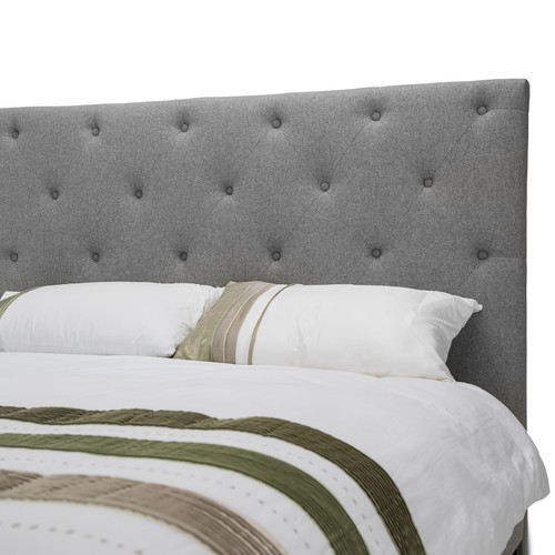 Rosie Grey Fabric Bedframe Temple Webster