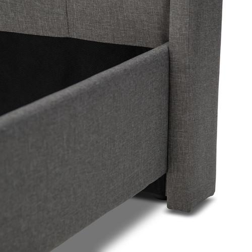 Evergreen Home Light Grey Quinn Fabric Bedframe