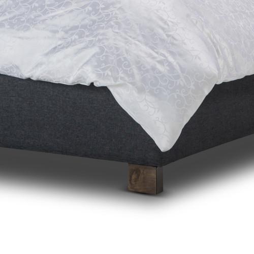 Evergreen Home Dark Grey Ashley Fabric Bedframe