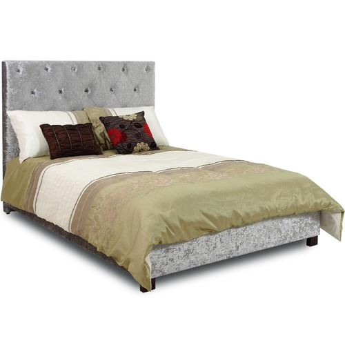 Evergreen Home Grey Tatum Fabric Bedframe