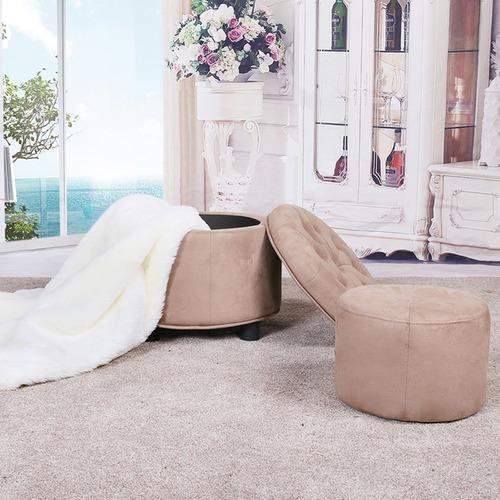 Evergreen Home Round Alex Storage Ottoman