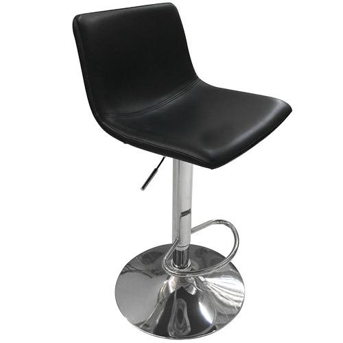 Homestar Furniture Ebony Bristol Faux Leather Gas Lift Barstools
