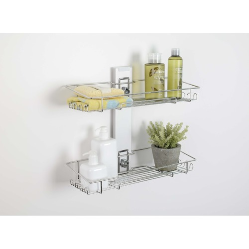 Quoss Q Magic 2 Tier Bathroom Shelf