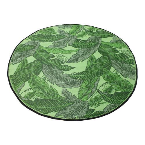 Banana Leaf Green Round Outdoor Rug | Temple & Webster