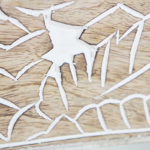 Stoneleigh & Roberson White Wash Palm Wall Mirror