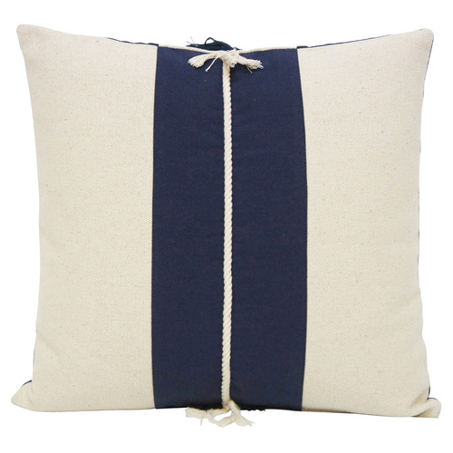 Stoneleigh & Roberson Dark Blue & White Hamptons Reversible Cotton Cushion