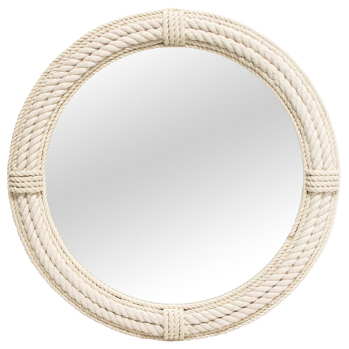 Stoneleigh & Roberson White Ahoy Hemp Rope Wall Mirror