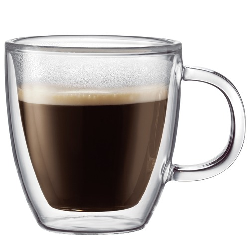Bodum Bistro Double Wall 150ml Espresso Mugs