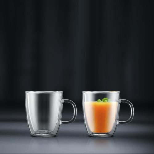 Bodum Bistro Double Wall 300ml Espresso Mugs