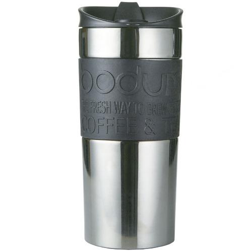 Bodum Bodum Silver Stainless Steel Travel Mug 350ml
