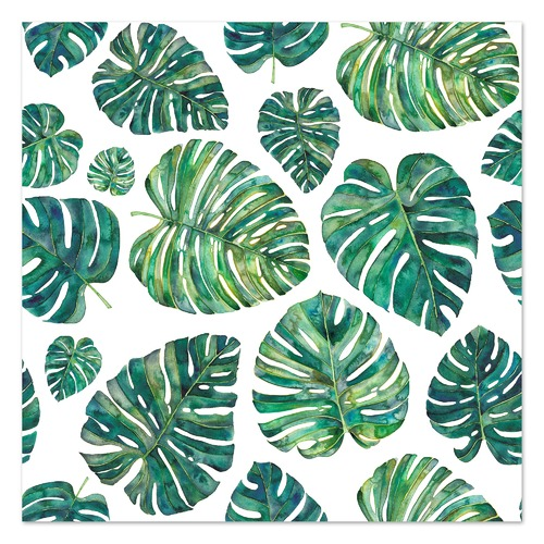 Tropical Leaves Printed Wall Art Temple Webster Get ready for a heat wave, because palm fronds,ferns, and other flamboyant foliage are the new favorites of the design set. tropical leaves printed wall art