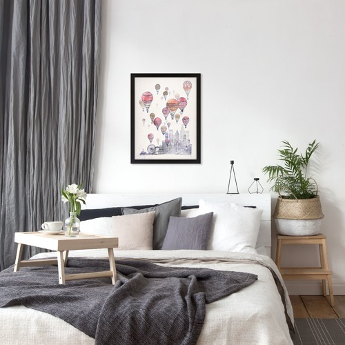 Americanflat Voyages Over Santa Monica Printed Wall Art