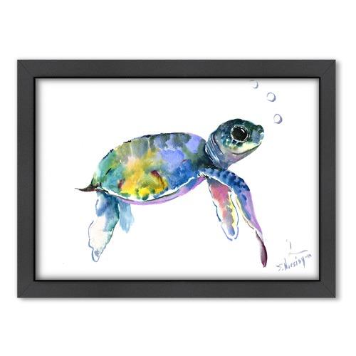 Americanflat Baby Sea Turtles 2 Printed Wall Art