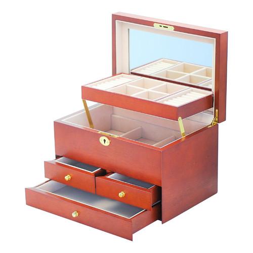 Cherry Cambridge Traditional Jewellery Box