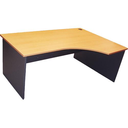 Cooper Furniture 180cm Curved Right Home Desk