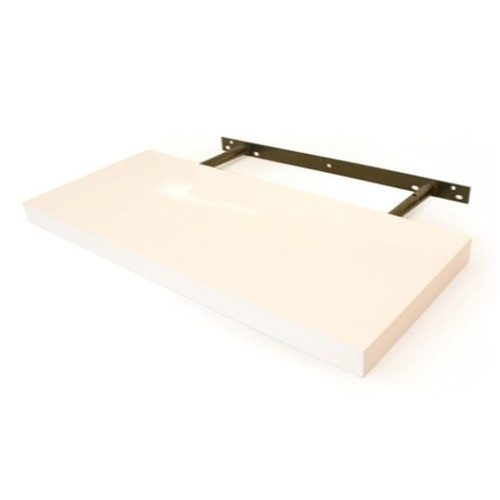 Cooper Furniture 60cm Floating Shelf in White Lacquered Finish
