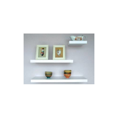 Cooper Furniture 80cm Floating Shelf in White Lacquered