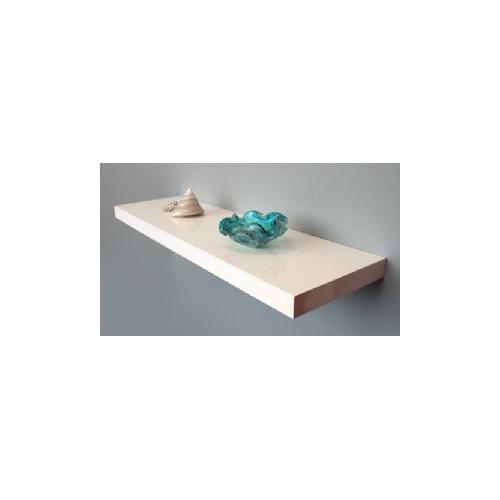 Cooper Furniture 90cm Floating Shelf in White High Gloss