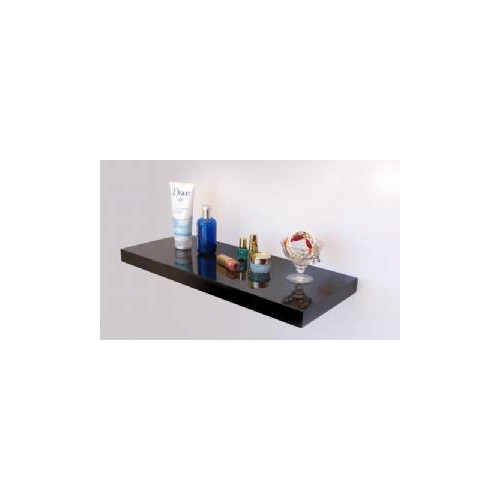 Cooper Furniture 80cm Floating Shelf in Black High Gloss