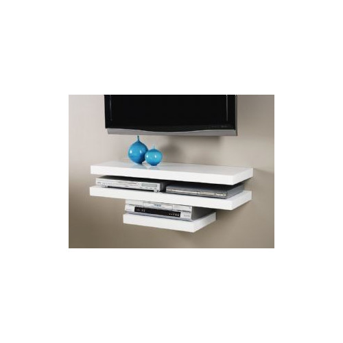 Cooper Furniture 45cm Media Shelf in High Gloss White