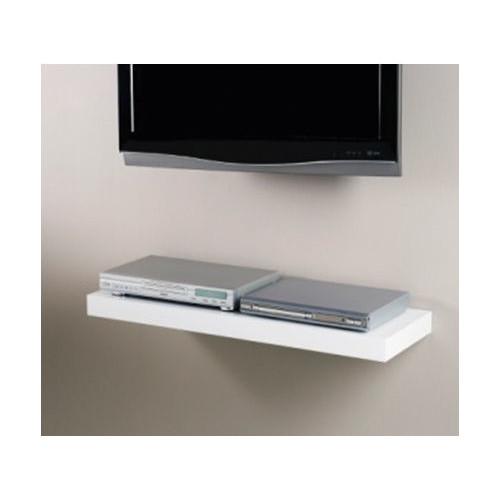 Cooper Furniture 90cm Media Shelf in High Gloss White