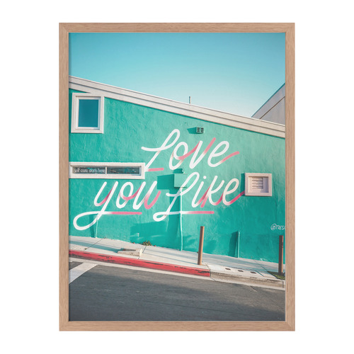Urban Road Love You Like Framed Printed Wall Art
